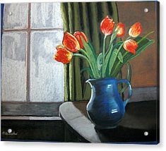 Table Top Tulips Acrylic Print