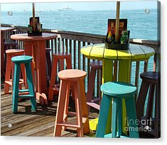 Tables With A View Acrylic Print by Eva Kato