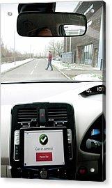 Tablet Interface Of The Robotcar Acrylic Print