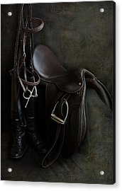 Tack And Boots Acrylic Print