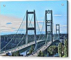 Tacoma Narrows Bridge 51 Acrylic Print