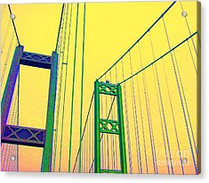 Acrylic Print featuring the photograph Tacoma Narrows Yellow by Ann Johndro-Collins