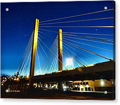 Tacoma W A Cable Stayed Bridge Acrylic Print