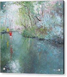 Tad Poling At The Creek Acrylic Print by Jan Matson