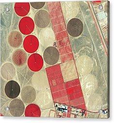 Tadco Farm Saudi Arabia Satellite Acrylic Print by GeoEye