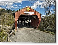 Taftsville Vermont Covered Bridge Acrylic Print by Constantine Gregory