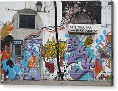 Tagging North Philly Acrylic Print