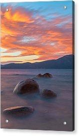 Tahoe Burning Acrylic Print