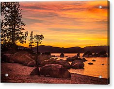 Acrylic Print featuring the photograph Tahoe Golden Sunset by Steven Bateson