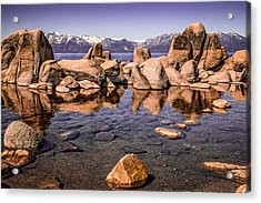 Acrylic Print featuring the photograph Tahoe Reflections by Steven Bateson