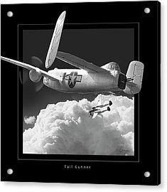 Tail Gunner Acrylic Print by Larry McManus