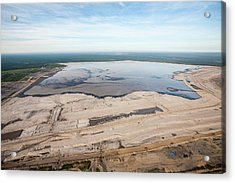 Tailings Pond Acrylic Print by Ashley Cooper