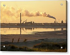 Tailings Pond At A Tar Sands Mine Acrylic Print by Ashley Cooper