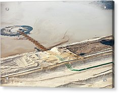Tailings Pond At Syncrude Mine Acrylic Print by Ashley Cooper