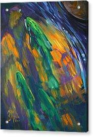 Tailwater Take Acrylic Print by Savlen Art