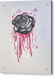 Tainted Rose Acrylic Print