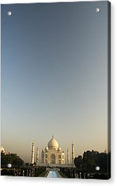 Taj And Morning Sky Acrylic Print by Rajiv Chopra