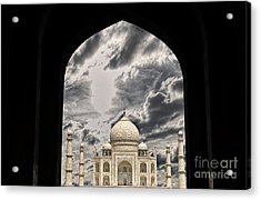 Taj Mahal -a Monument Of Love Acrylic Print by Vineesh Edakkara