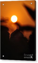 Taj Mahal- Agra India Acrylic Print by Vineesh Edakkara