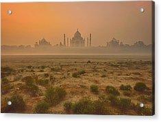 Taj Mahal At Dusk Acrylic Print