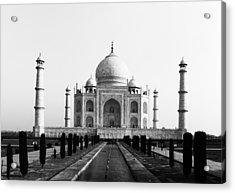 Taj Mahal Bw Acrylic Print