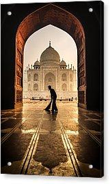 Taj Mahal Cleaner Acrylic Print