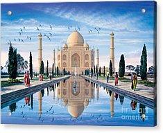 Taj Mahal Acrylic Print by Steve Crisp