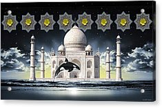 Acrylic Print featuring the digital art Taj by Scott Ross