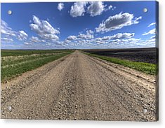 Take A Back Road Acrylic Print by Aaron J Groen