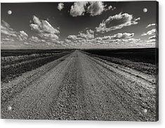 Take A Back Road Bnw Version Acrylic Print by Aaron J Groen