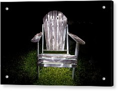 Adirondack Chair Painted With Light Acrylic Print