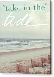 Take In The Tide Acrylic Print by Kathy Mansfield
