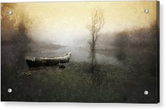 Take Me Down To My Boat In The River Acrylic Print by Charlaine Gerber