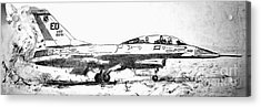 Take Off F-16 Acrylic Print by Theresa Hudson