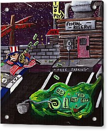 Take The Money And Run  Acrylic Print by Corey Holland