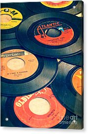 Acrylic Print featuring the photograph Take Those Old Records Off The Shelf by Edward Fielding