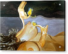 Acrylic Print featuring the painting Takeoff The Touch Despegue Del Tacto by Lazaro Hurtado