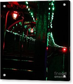 Taking In The Lights Riding The Rails Acrylic Print by Scott Allison