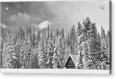 Taking Refuge - Grand Teton Acrylic Print by Sandra Bronstein
