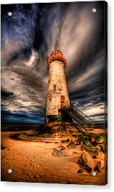 Talacre Lighthouse Acrylic Print by Adrian Evans