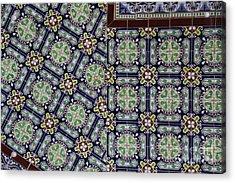 Talavera Tile Puebla Acrylic Print by Linda Queally