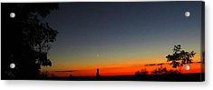 Talcott Mountain Sunset Acrylic Print by Stephen Melcher