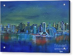 Tale Of 4 Cities Acrylic Print by Barbara Hayes