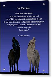 Tale Of Two Wolves Acrylic Print