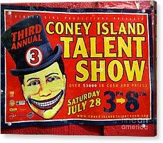 Talent Show Acrylic Print by Ed Weidman