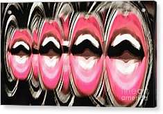 Acrylic Print featuring the painting Talk To Me by Catherine Lott