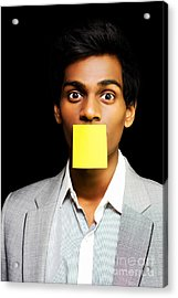 Talkative Forgetful Office Worker Acrylic Print