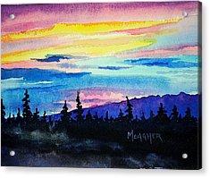 Talkeetna Lodge Alaska Acrylic Print by Spencer Meagher