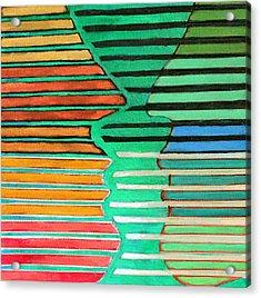 Talking Heads Acrylic Print by Diane Fine