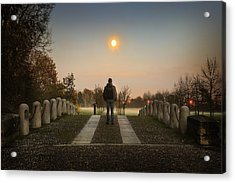 Talking To The Moon Acrylic Print by Alfio Finocchiaro